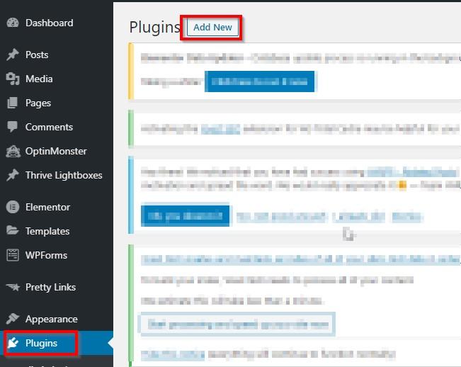 WordPress-add-plugin